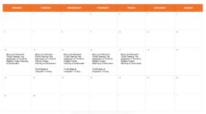 TILOS Software Training Calendar